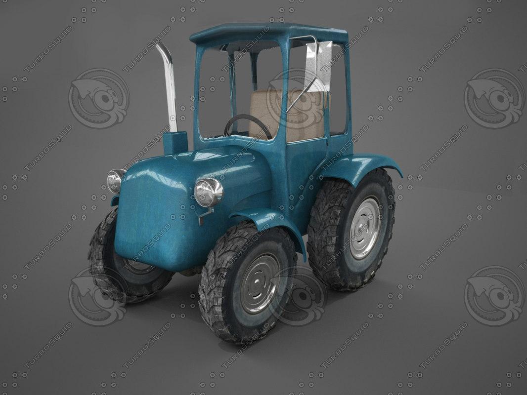 cartoon tractor 3d max