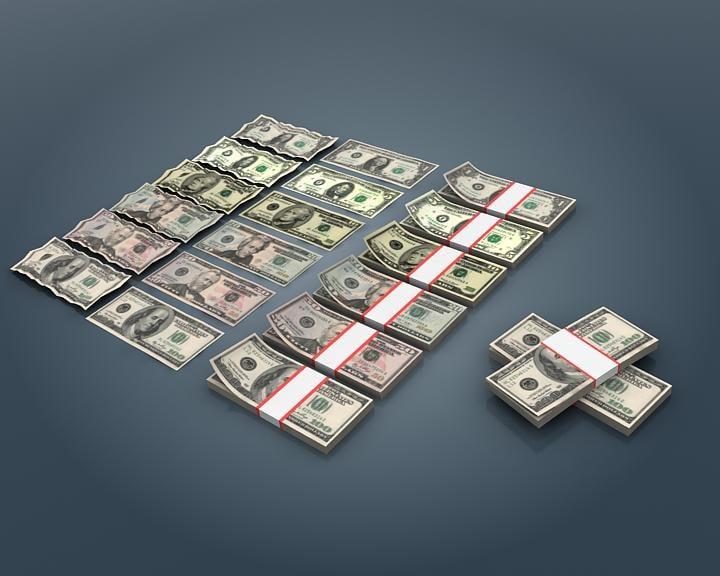3d max realistic dollar bill