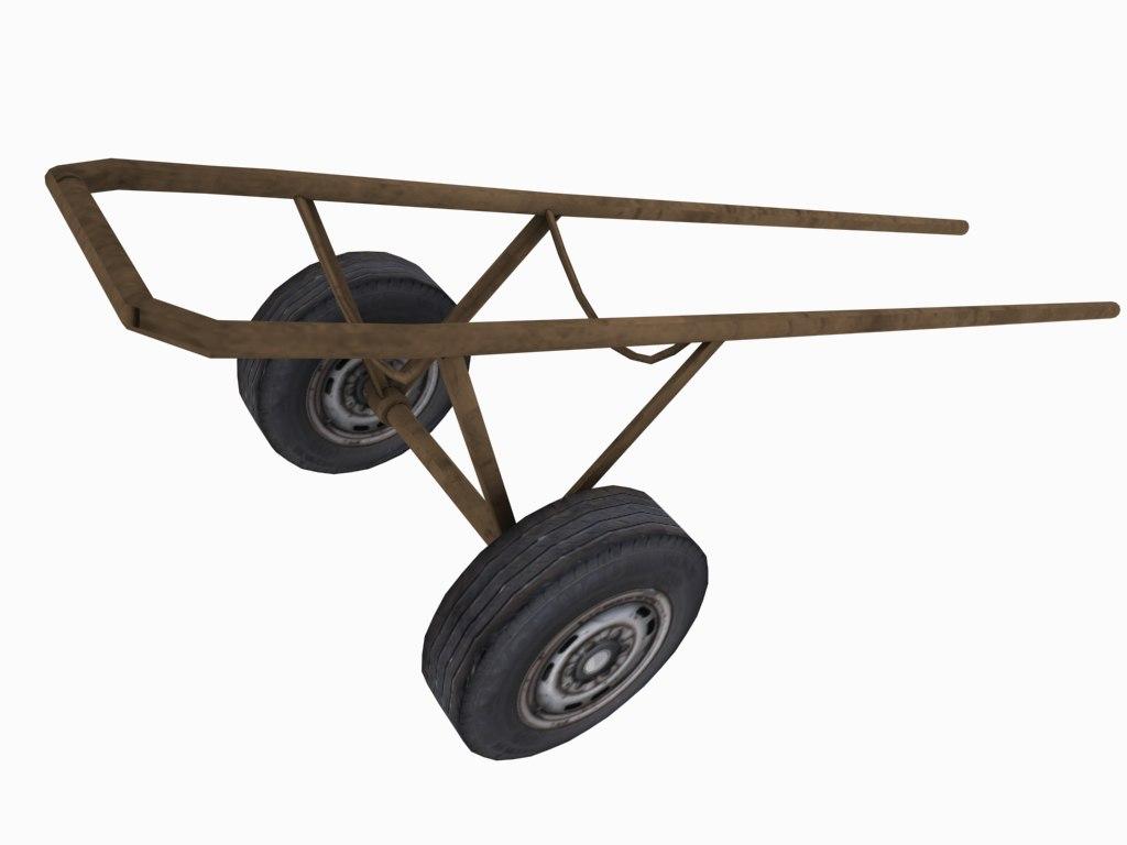 wheel barrow frame 3d max