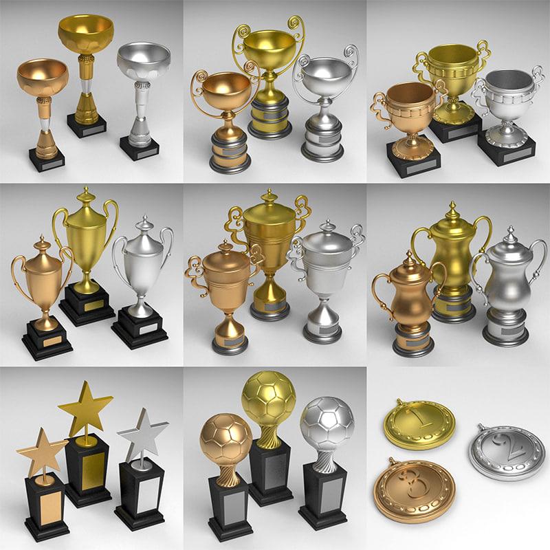 maya trophy gold silver
