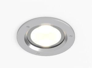 3d model erco outdoor lightcast downlight