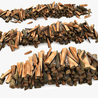 3d model firewood lumber timber