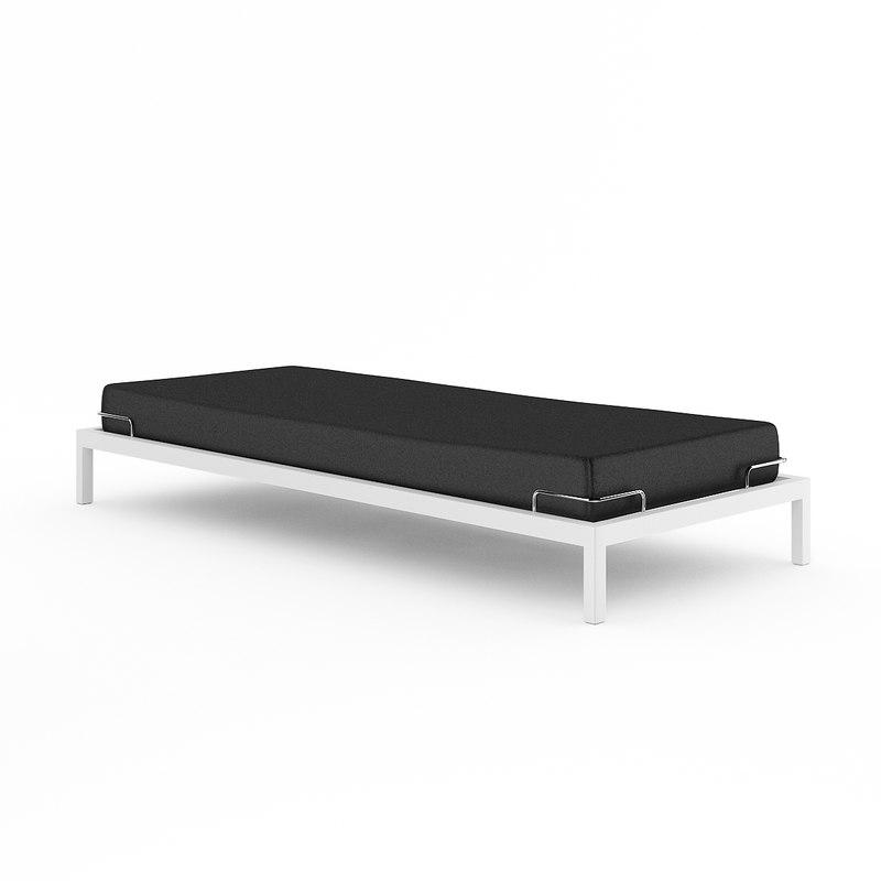 bed black single