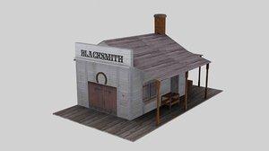 free 3ds model wild west blacksmith