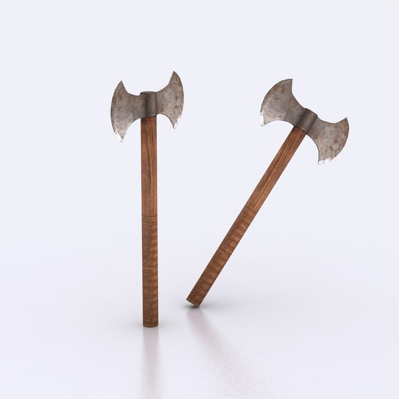 free axe weapon 3d model