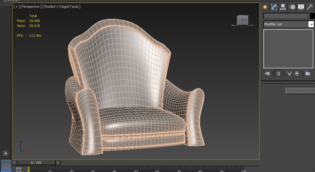 free cartoon chair 3d model