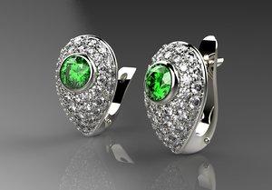jewelry earrings 3d obj
