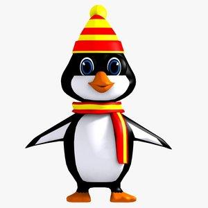 3d model penguin character