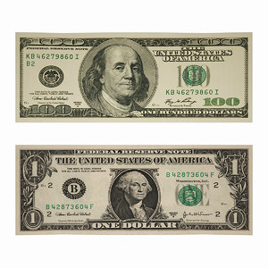 3ds max 1 dollar bills