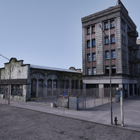 3ds max street city bronx