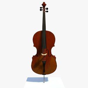 matt cello musical instrument 3d model