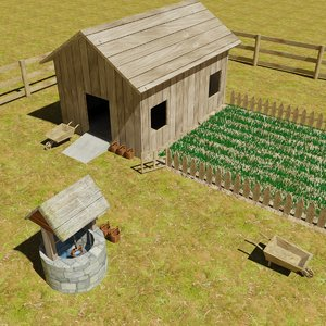 kurdistan farm 3d model