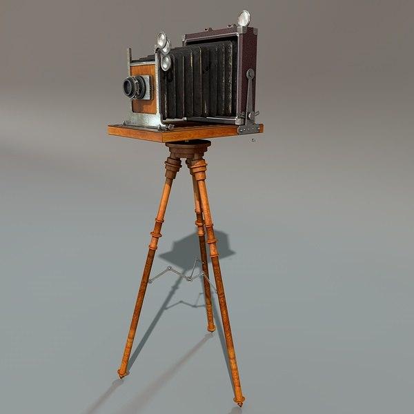 3d model antique camera