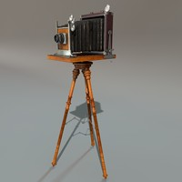3d model antique camera