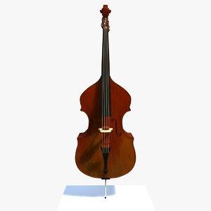 glossy bass musical instrument 3d model