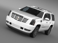 cadillac escalade hybrid 3d model
