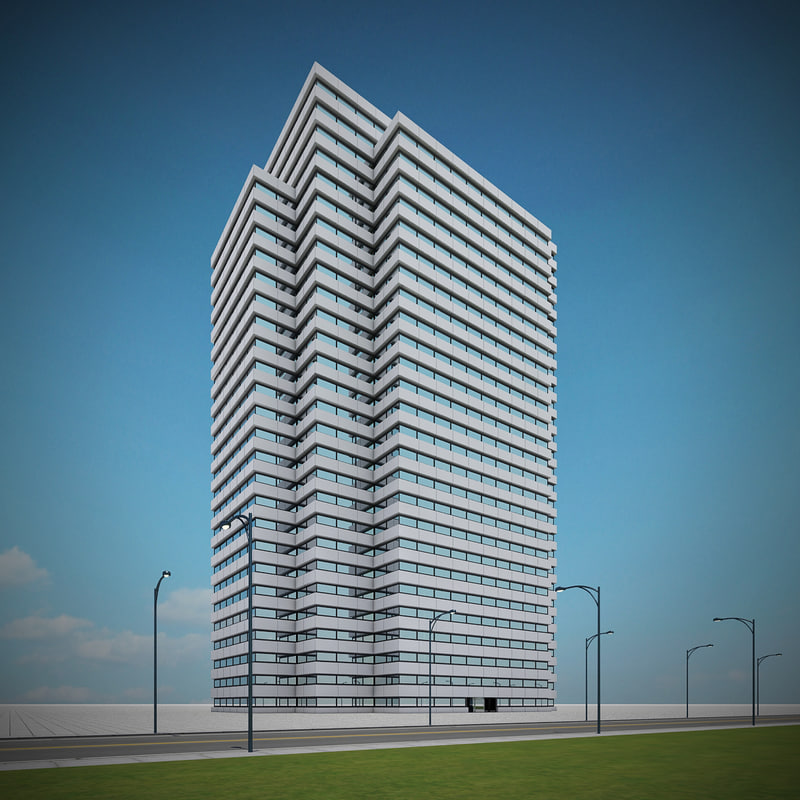 3d model new skyscraper 99