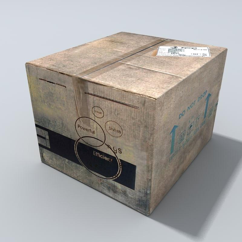 dirty cardboard box 3ds