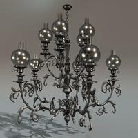 c4d iron chandelier