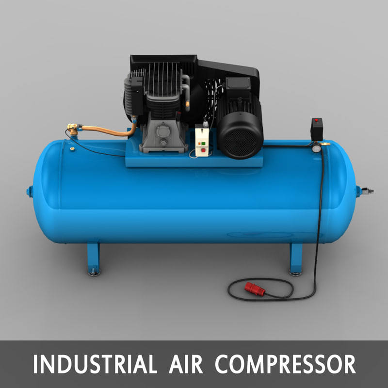 electric compressor 3d model