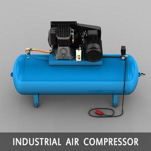 electric compressor 3d model