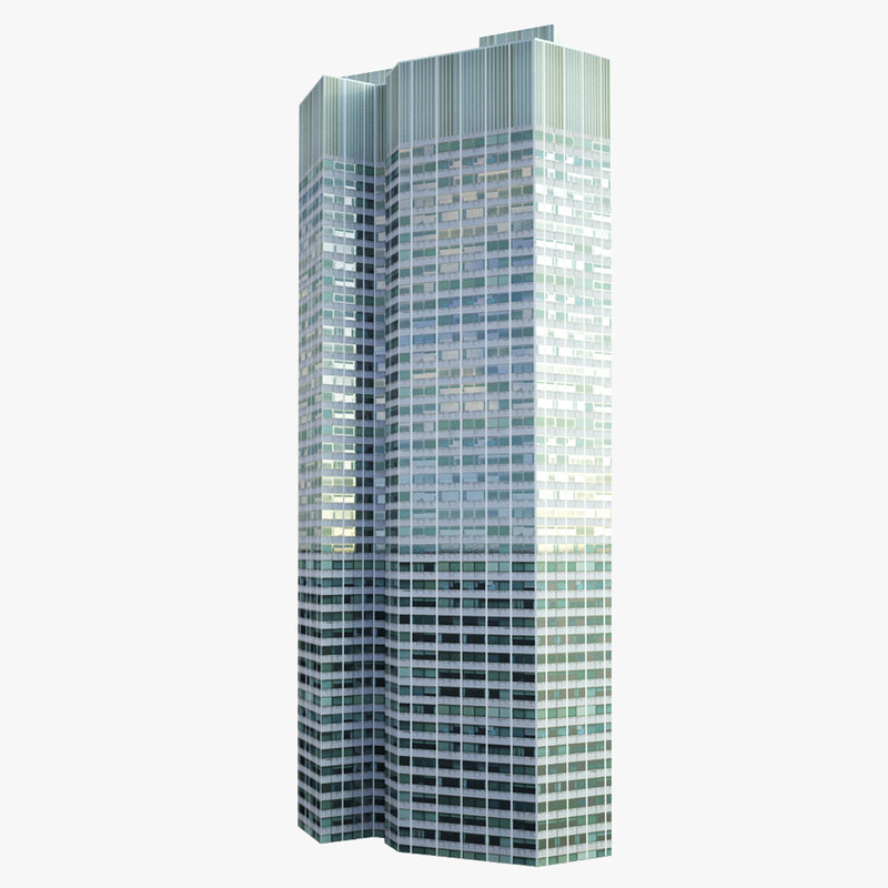 skyscraper eurotower 3d model
