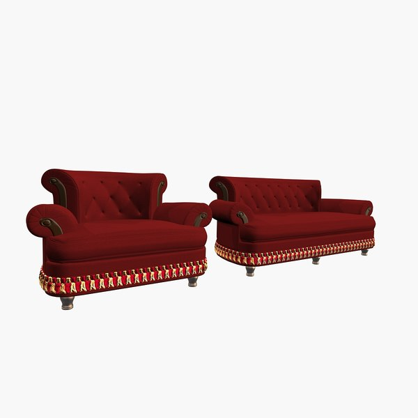 3d model of fasalcastelli sofa armchair
