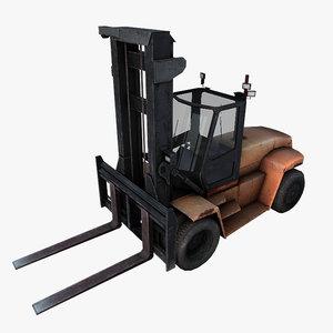 forklift fork lift 3d model
