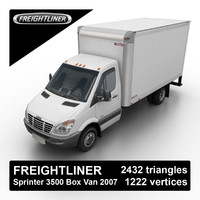 2007 freightliner dodge sprinter 3d max