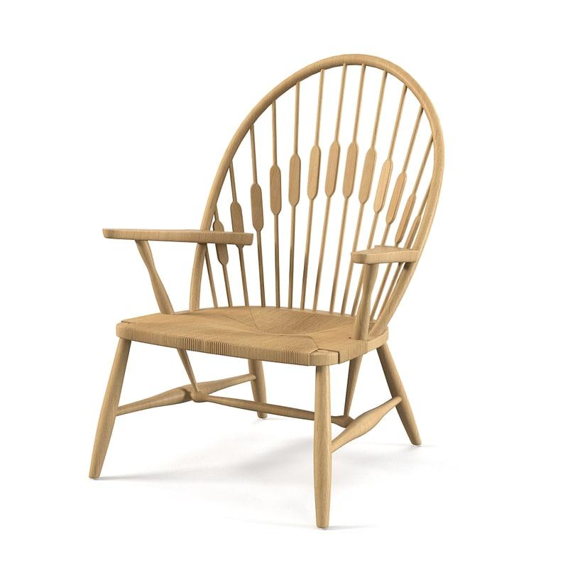 3d obj peacock chair hans