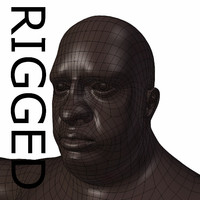 RIGGED Obese Black Man Base Mesh