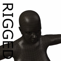 RIGGED Obese Black Woman Base Mesh
