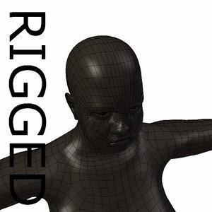 3d model rigged base mesh obese