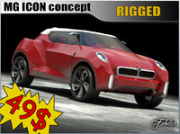 3d model mg icon concept car