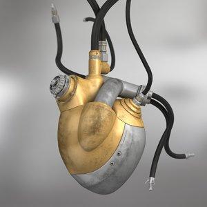 3d model mechanical heart