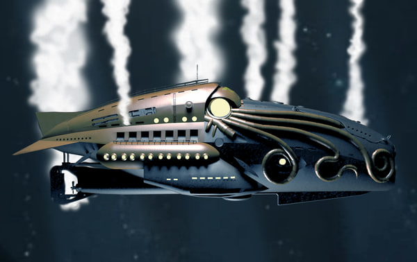 nautilus submarine comic league 3d 3ds
