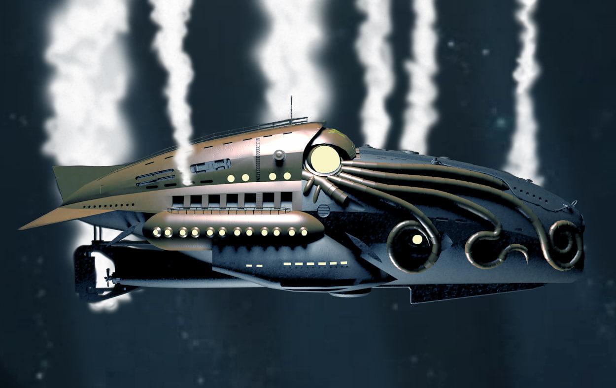 nautilus submarine comic league 3d 3ds