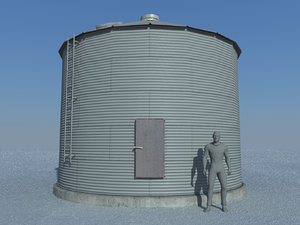 3d model grain bin old