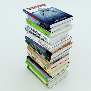 stack books 3d max
