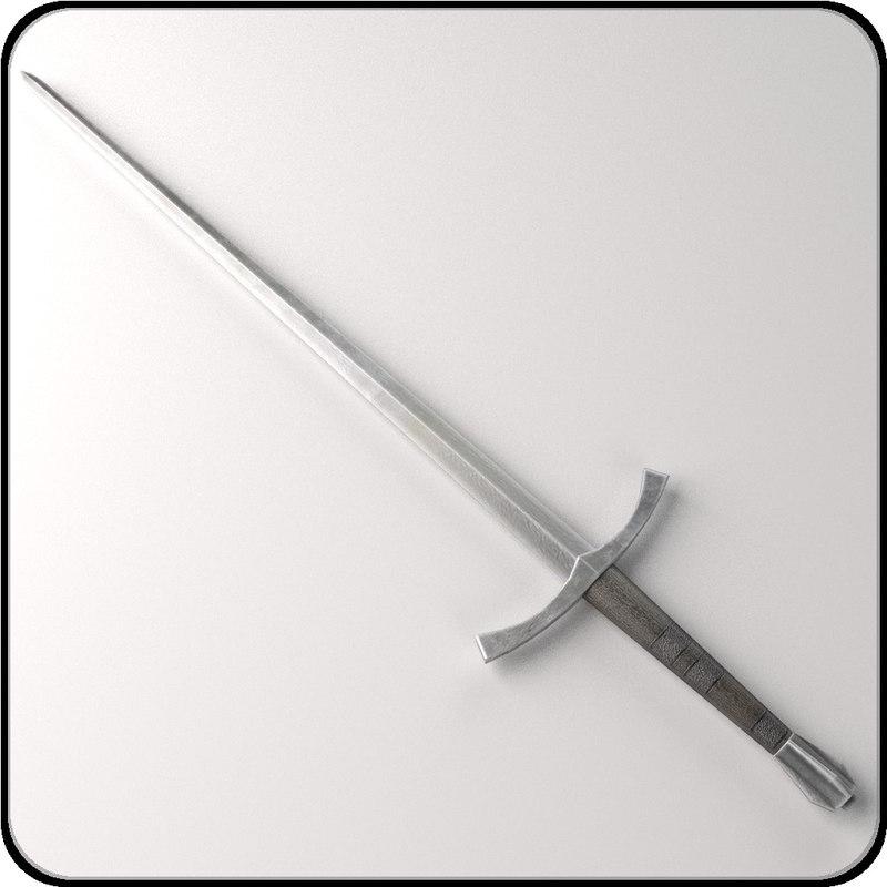 medieval sword 3d model
