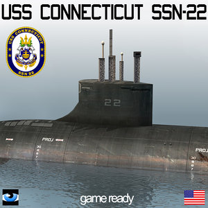 3d s connecticut ssn-22 submarine