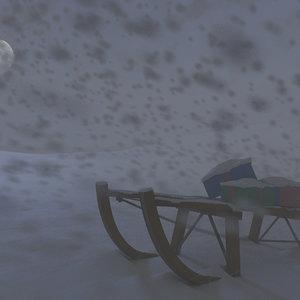 snowy snow 3d model