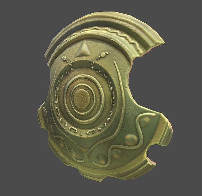 3d shield udk color