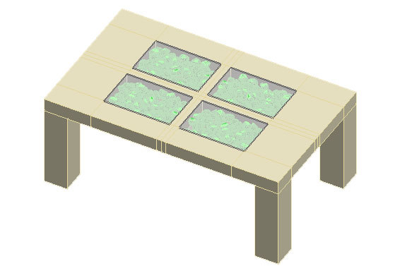 free small table 3d model