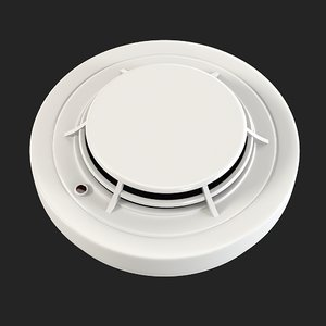 3d smoke detector model