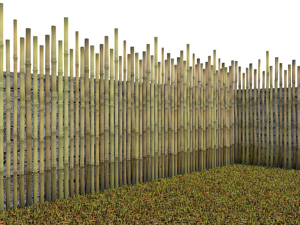 garden fence 3d 3ds