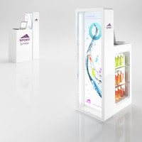 3d cosmetics sale stand