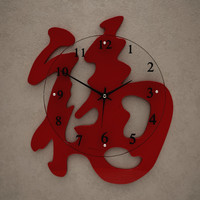 fxb wall clock 3d model