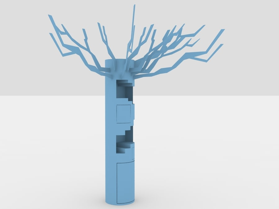 tree book shelf 3d x