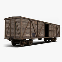 3d model boxcar wagon railway